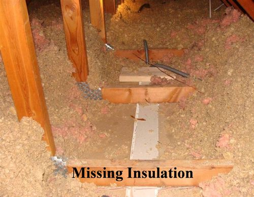 missing insulation Wichita KS Attic